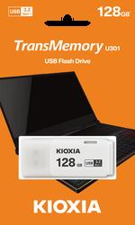Toshiba - 128GB USB3.2 GEN1 KIOXIA BEYAZ USB BELLEK LU301W128GG4