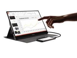 VIEWSONIC - VIEWSONIC TD1655 16 FHD IPS Panel 10 Nokta Dokunmatik 2x USB Type-C Destekli Taşınabilir Monitör