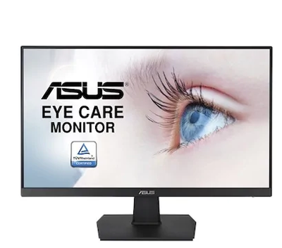23.8 ASUS VA24EHE FHD 1920X1080 IPS 75HZ HDMI DVI-D D-SUB FLİCKER FREE LOW BLUE LIGHT TUV CERTIFIED ADAPTIVE-SYNC MONITOR