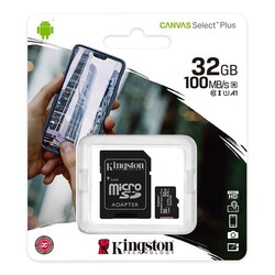 Kingston - 32 GB KINGSTON MICRO SD 100MBs SDCS2-32GB