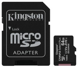 KINGSTON - 64 GB KINGSTON CANVAS SELECT PLUS MICRO SDHC UHS-1 CLASS 10 100MB/S (SDCS2/64GB)