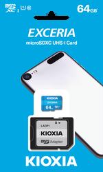 Toshiba - 64GB MICRO SDHC C10 100MB-s KIOXIA LMEX1L064GG2