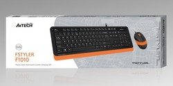 A4 TECH - A4 TECH F1010 Q USB TURUNCU MM KLAVYE+OPTİK MOUSE