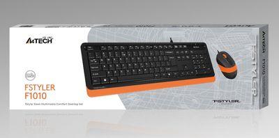 A4 TECH F1010 Q USB TURUNCU MM KLAVYE+OPTİK MOUSE