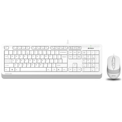 A4 TECH F1010 USB Q Trk Optic Mouse Beyaz/Gri Standart Klavye Mouse Set