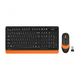 A4 TECH FG1010 Q 2.4 GHZ USB TURUNCU KLAVYE+MOUSE KABLOSUZ SET - Thumbnail
