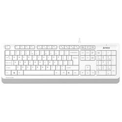 A4 TECH - A4 TECH FK10 USB Q Trk Beyaz/Gri Multimedya Klavye