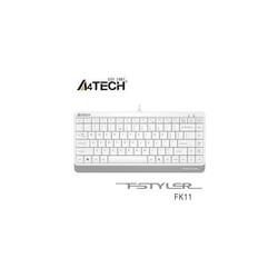 A4 Tech - A4 TECH FK11 Q USB BEYAZ MİNİ TR FN-MULTİMEDYA KABLOLU