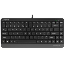 A4 TECH - A4 TECH FK11 USB Q Trk Mini Siyah-Gri Multimedya Klavye