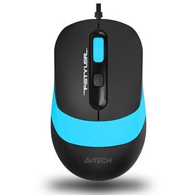 A4 TECH FM10 USB 1600dpi Optic Siyah/Mavi Mouse