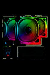 AEROCOOL - AEROCOOL 12cm Astro12 Pro AE-ASTR12-PRO Siyah RGB 3lü Kasa Fanı Kiti