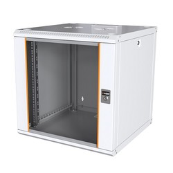 AGER - AGER 12U 600x450mm Duvar Tipi Beyaz Kabinet Agena AG-AN012U6045B1