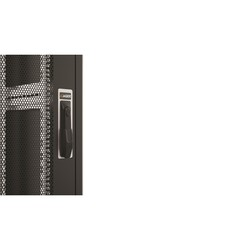 AGER - AGER 16U 600x800mm Dikili Tip Siyah Kabinet Vega AG-VG16U6080S1 Cam Kapak