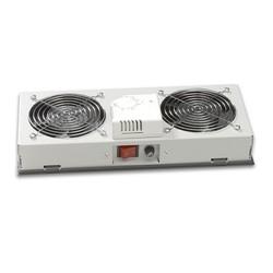 AGER - AGER 1li Termostatlı Beyaz Filtreli Fan Modülü Outdoor Kabinetler İçin OT8F1T-A-B1
