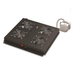 AGER - AGER Dikili Tip 4lü Termostatlı Siyah Fan Modülü VG-F4T-A-BL