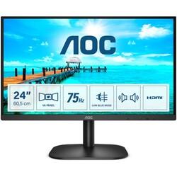 AOC - AOC 23.8 24B2XDAM LED Monitör 4ms Siyah1920x1080, 75Hz, HDMI, DVI, VGA, MM, Vesa