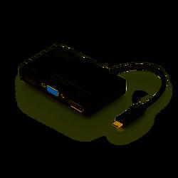 ASSMANN - Assmann DA-70848 Kablo Arayüz Adaptörü USB Type-C DP+HDMI+DVI+VGA