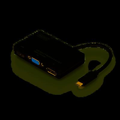 Assmann DA-70848 Kablo Arayüz Adaptörü USB Type-C DP+HDMI+DVI+VGA