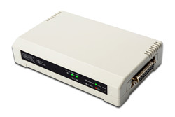 ASSMANN - Assmann DN-13006-1 Digitus 3 port Fast Ethernet Print Server, 2 x USB 2.0 port, 1 x DB-36-pin erkek centronics, 1 x RJ45