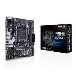 ASUS - ASUS AM4 A320 DDR4 Prime A320M-F 4x Sata AMD Ryzen Graphics 4x (PCIe) mATX