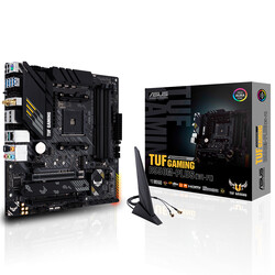 ASUS B550 TUF B550M-PLUS (WI-FI) DDR4 SATA3 M2 PCIe NVME HDMI DP PCIe 16X v4.0 AM4 mATX - Thumbnail