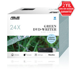 Asus DRW-24D5MT 24X Dahili DVD Yazıcı, Kutulu, M-Disc destekli, Siyah - Thumbnail