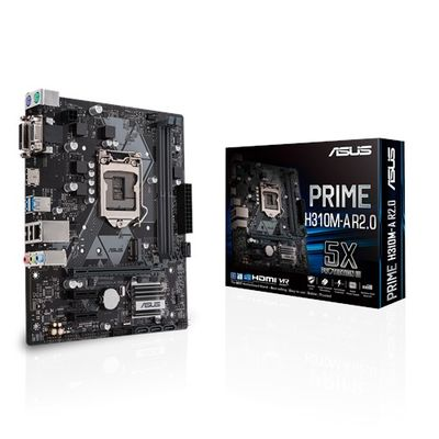 Asus H310M-A R2.0/CSM Prime DDR4 Dvi Hdmi Usb3.1