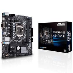 ASUS - ASUS H410 Prime H410M-D DDR4 SATA3 M2 PCIe NVME HDMI PCIe 16X v3.0 1200p ATX