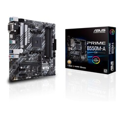 ASUS - ASUS PRIME B550M-A-CSM DDR4 SATA3 M2 PCIe NVME HDMI DVI PCIe 16X v4.0 AM4 mATX Kurumsal Anakart