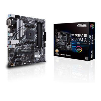 ASUS PRIME B550M-A-CSM DDR4 SATA3 M2 PCIe NVME HDMI DVI PCIe 16X v4.0 AM4 mATX Kurumsal Anakart