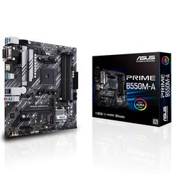 ASUS - ASUS PRIME B550M-A DDR4 SATA3 M2 PCIe NVME HDMI DVI PCIe 16X v4.0 AM4 mATX