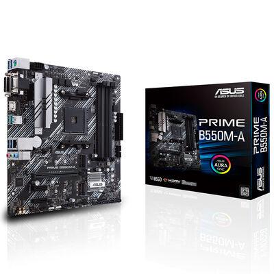 ASUS PRIME B550M-A DDR4 SATA3 M2 PCIe NVME HDMI DVI PCIe 16X v4.0 AM4 mATX