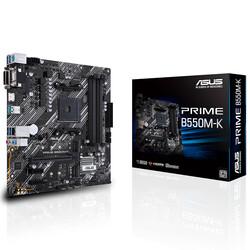 ASUS - ASUS PRIME B550M-K DDR4 SATA3 M2 PCIe NVME HDMI DVI PCIe 16X v4.0 AM4 mATX