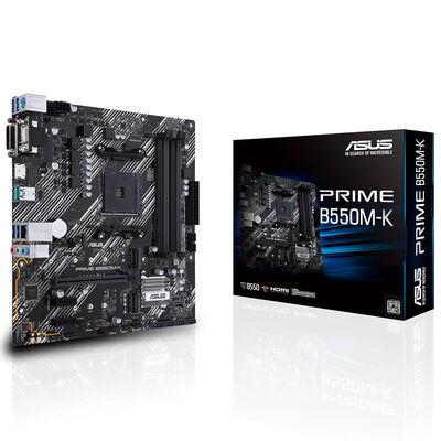 ASUS PRIME B550M-K DDR4 SATA3 M2 PCIe NVME HDMI DVI PCIe 16X v4.0 AM4 mATX