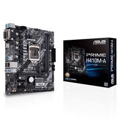 ASUS - ASUS PRIME H410M-A/CSM DDR4 SATA3 M2 PCIe NVME HDMI DVI PCIe 16X v3.0 1200p mATX