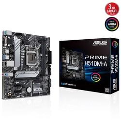 ASUS - ASUS PRIME H510M-A DDR4 M2 PCIe NVME HDMI DP PCIe 16X v4.0 1200p mATX