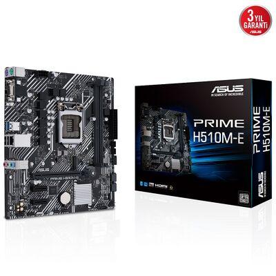 ASUS PRIME H510M-E DDR4 M2 PCIe NVME HDMI DP PCIe 16X v4.0 1200p mATX