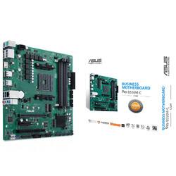 ASUS - ASUS PRO B550M-C CSM AMD B550 AM4 DDR4 4800 2XDP HDMI ÇİFT M2 USB3.2 PCI TPM MATX PCIE 4.0 128GB'A KADAR RAM DESTEĞİ ASUS CONTROL CENTER EXPRESS HEDİYELİ!