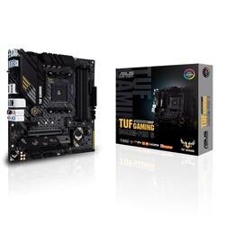 ASUS - ASUS TUF GAMING B450M-PRO S AMD B450 AM4 DDR4 4400 HDMI DVI Çift M2 USB3.1 AURA RGB mATX