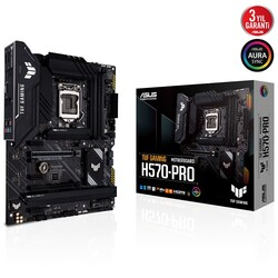 ASUS - ASUS TUF H570-PRO GAMING DDR4 M2 PCIe NVME HDMI DP PCIe 16X v4.0 1200p ATX