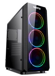 ASUS VENTO - ASUS VENTO VG04F PSU Yok 3*RGB Fan + Uzakdan Kumanda Siyah Atx Gaming Kasa Temper Cam