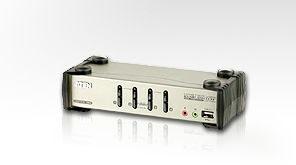 Aten ATEN-CS1734B 4 port'lu USB KVM (Keyboard/Video Monitor/Mouse) Switch