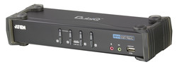 ATEN - Aten ATEN-CS1764A 4 port'lu USB 2.0 DVI KVM Switch