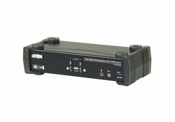 ATEN - Aten ATEN-CS1922M 2-Port USB 3.0 4K DisplayPort MST KVMP™ (Keyboard/Video Monitor/Mouse) Periferi Switch, DisplayPort 1.2 uyumlu