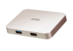 ATEN - Aten ATEN-UH3235 USB-C 4K Ultra Gaming Mini Dock with Power Pass-through