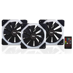 BOOST Halo-Dual Rings 7 color 3xRGB Fan 1xFan Control 1xRemote Combo Kit - Thumbnail