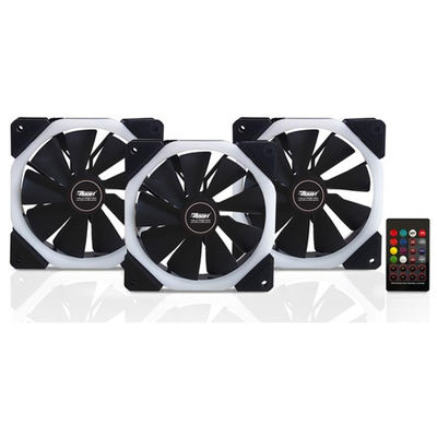 BOOST Halo-Dual Rings 7 color 3xRGB Fan 1xFan Control 1xRemote Combo Kit