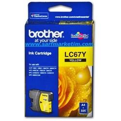BROTHER - BROTHER LC67Y Sarı Kartuş 325 Sayfa
