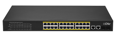 CNET CGS-2422SP 24 PORT 10/100/1000 POE 300W +2SFP YONETILEMEZ SWITCH