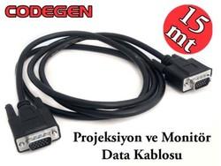 CODEGEN - CODEGEN CPA15 15M, M/M Monitör PC Arası VGA Data Görüntü Kablosu